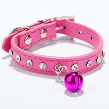 1pc Rhinestone Dog Collar With Bell