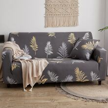 Leaf Print Stretchy Sofa Cover Without Cushion