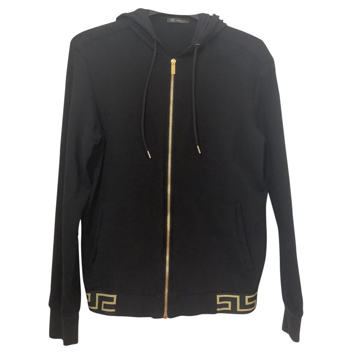 Versace - Pulls.Gilets.Sweats   pour homme en coton - noir