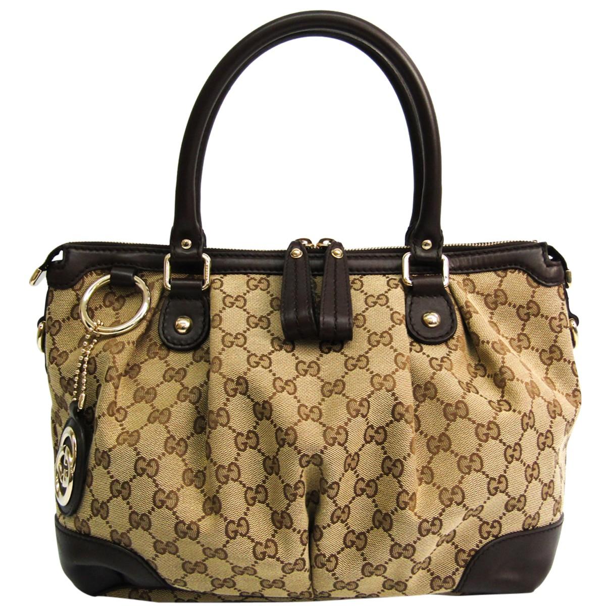 Gucci - Sac a main Sukey pour femme en toile - marron