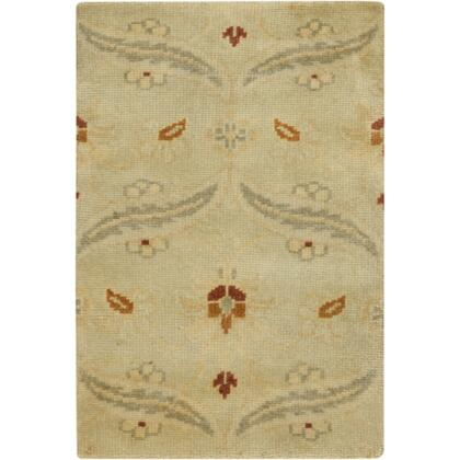 Ainsley AIN1014-811 8' x 11' Rectangular 100% Wool Hand Knotted Rug with Antique Wash  Minimal Shedding  Lustrous Sheen  and Made in India in Lime