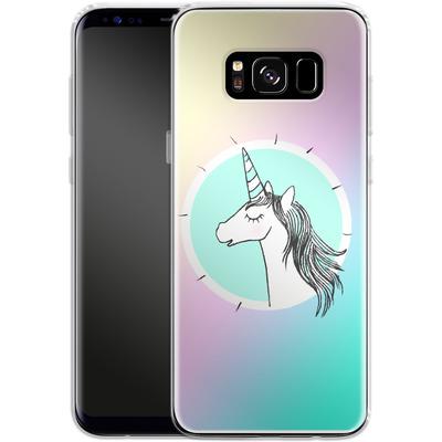 Samsung Galaxy S8 Silikon Handyhuelle - Happiness Unicorn von caseable Designs