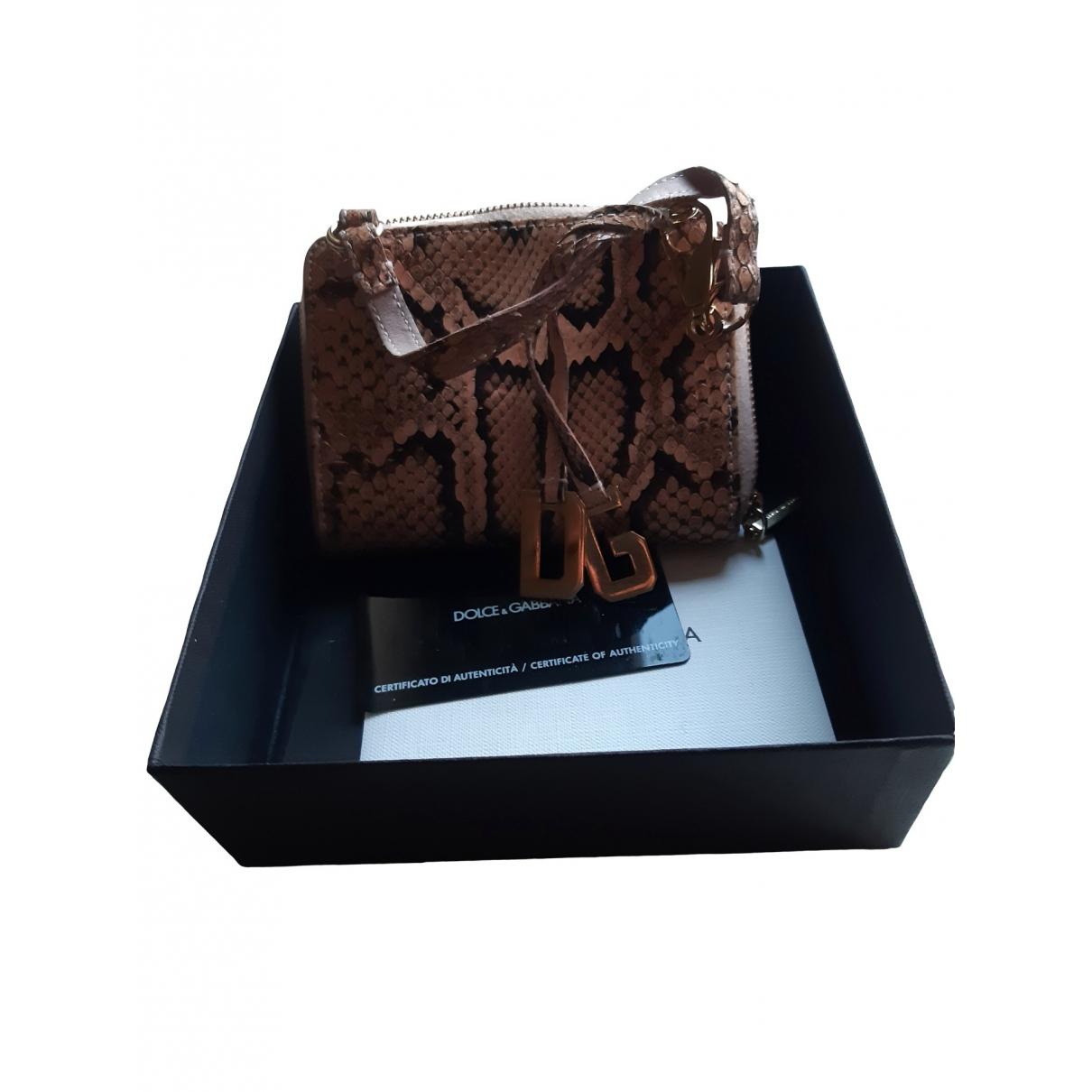 Dolce & Gabbana - Petite maroquinerie   pour femme en python - ecru