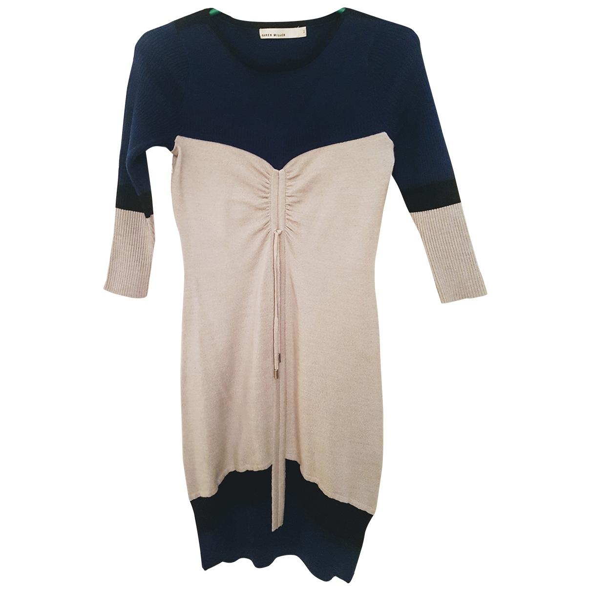 Karen Millen \N Kleid in  Grau Wolle
