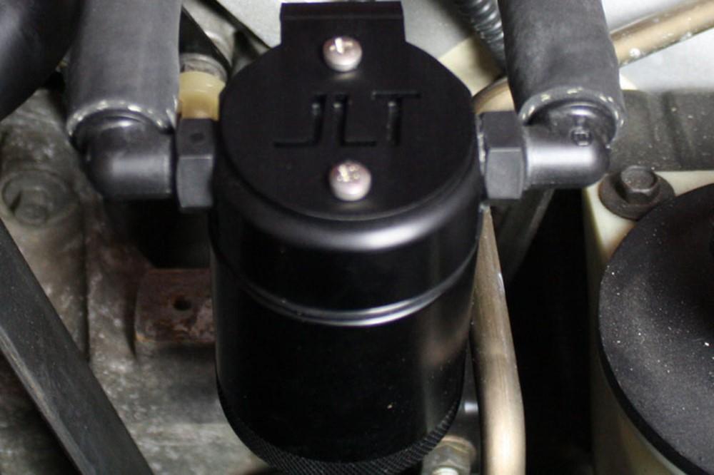 JLT Black Anodized 3.0 Driver Side Oil Separator Ford Mustang SVT Cobra/Mach 1 99-04
