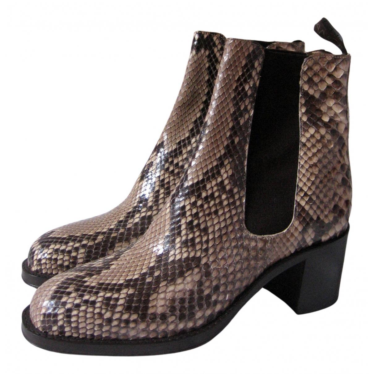 Free Lance - Boots   pour femme en cuir - multicolore
