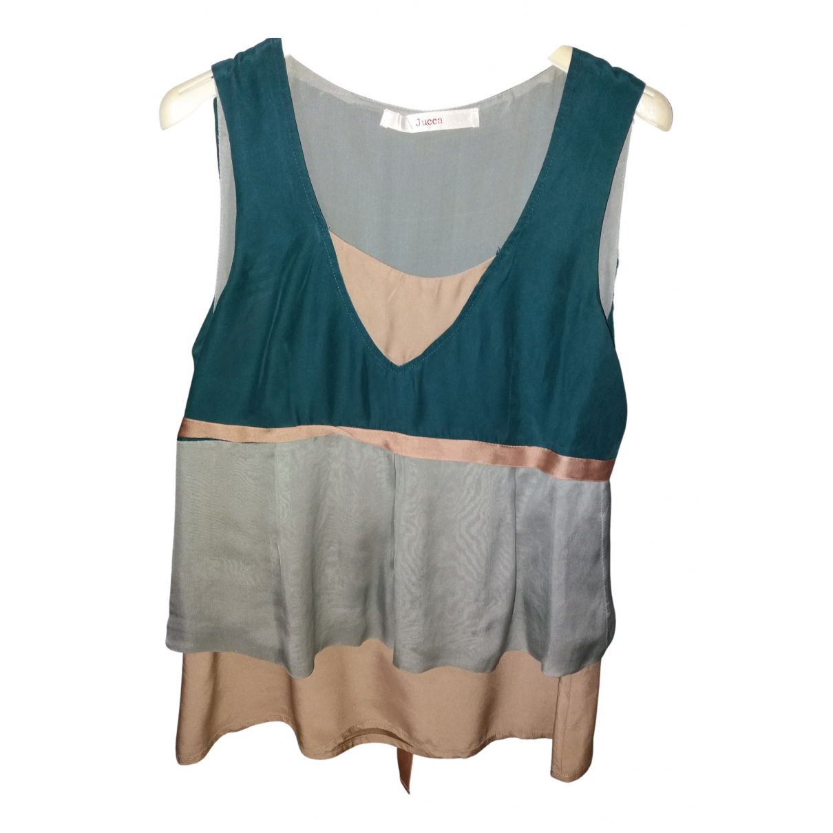 Jucca - Top   pour femme en soie - vert