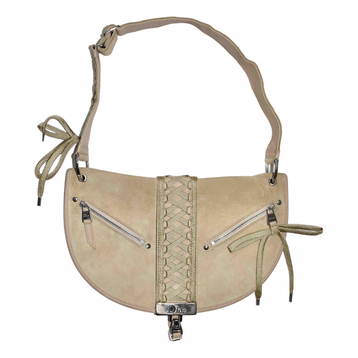 Dior Admit It Beige Suede handbag for Women N