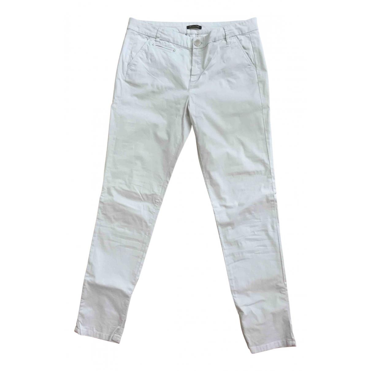 Pantalon en Algodon Gris Massimo Dutti
