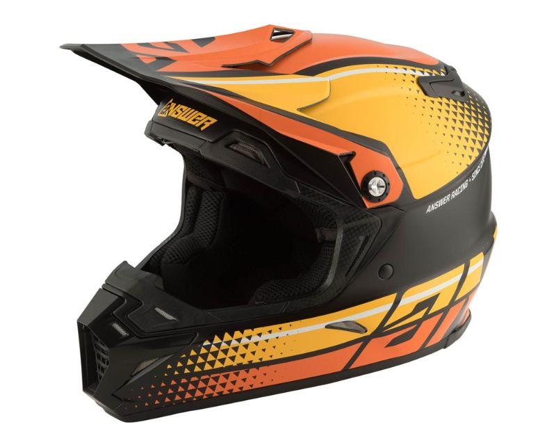 Answer 444400 AR5 Korza Helmet Black Oracnge Bus XL