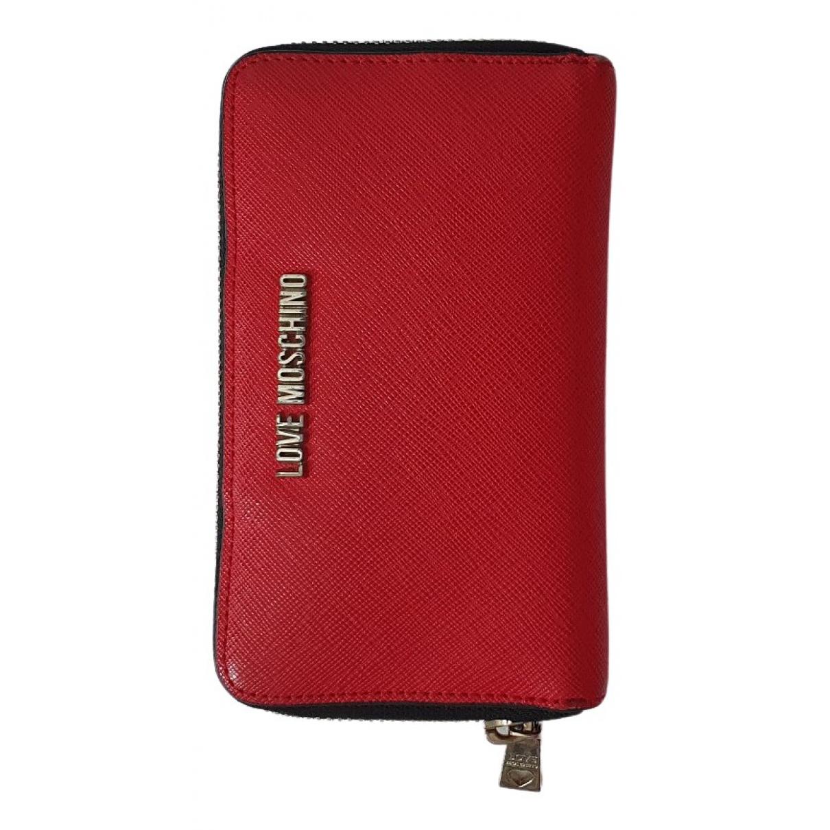 Moschino Love - Portefeuille   pour femme en autre - rouge