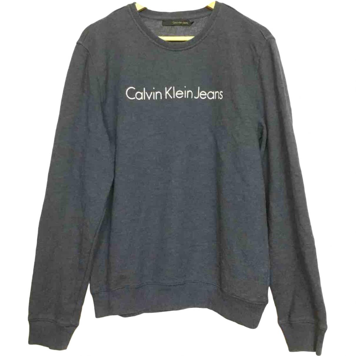 Calvin Klein \N Anthracite Cotton Knitwear & Sweatshirts for Men L