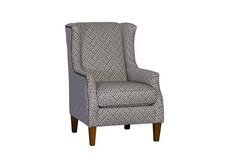 Halen Collection 398840F40-CH-KS 39 Chair with Wingback  Tapered Legs  Removable Cushion and Fabric Upholstery in Grey