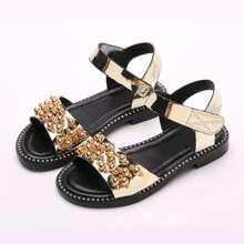 Girls Faux Pearl Decor Sandals
