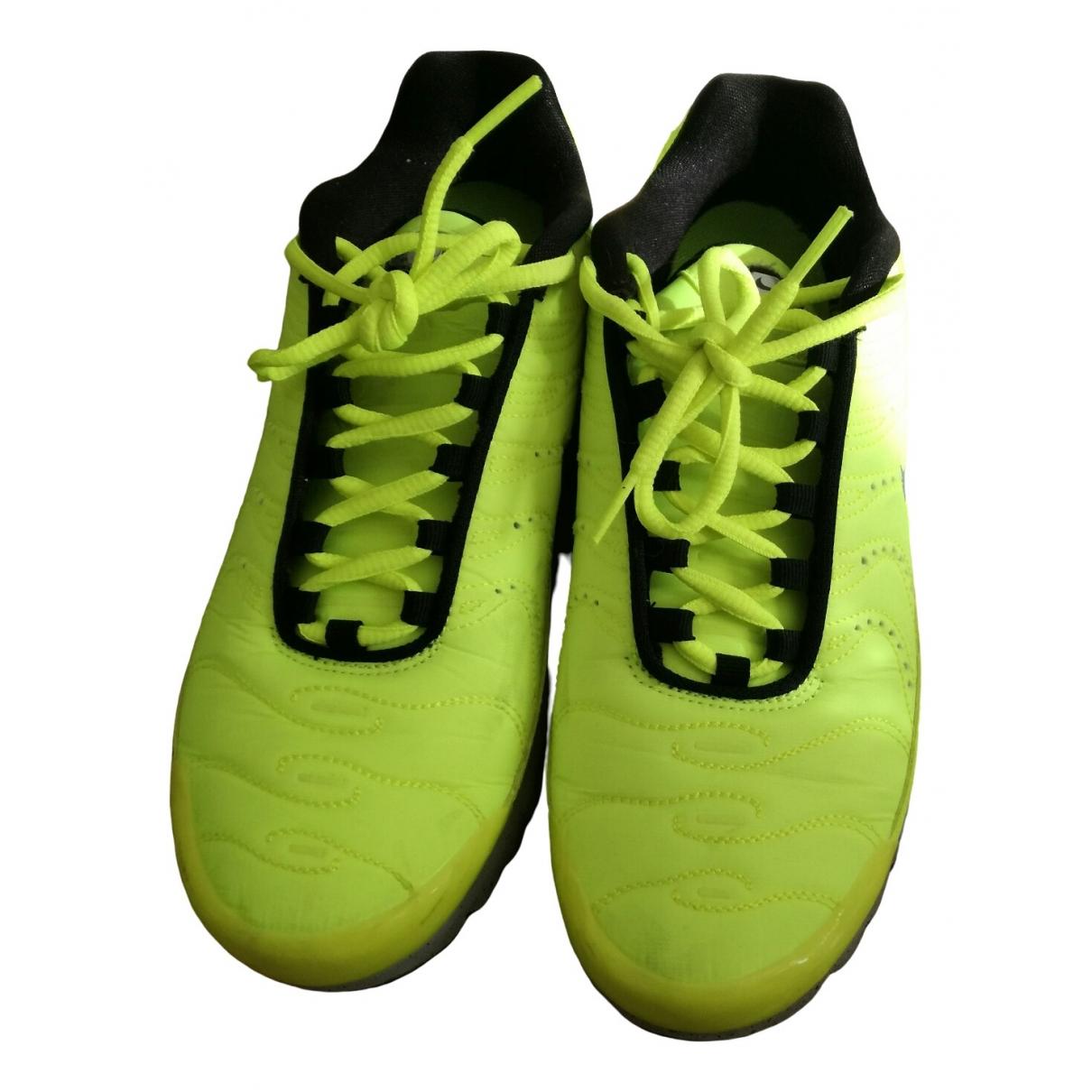 Nike - Baskets Air Max Plus  pour homme en toile - jaune