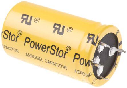Eaton Bussmann Series 400F Supercapacitor EDLC -5 → +10% Tolerance, Supercap XV 2.7V dc, Through Hole