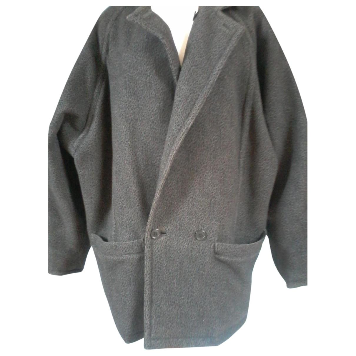 Gianni Versace - Manteau   pour homme en laine - gris