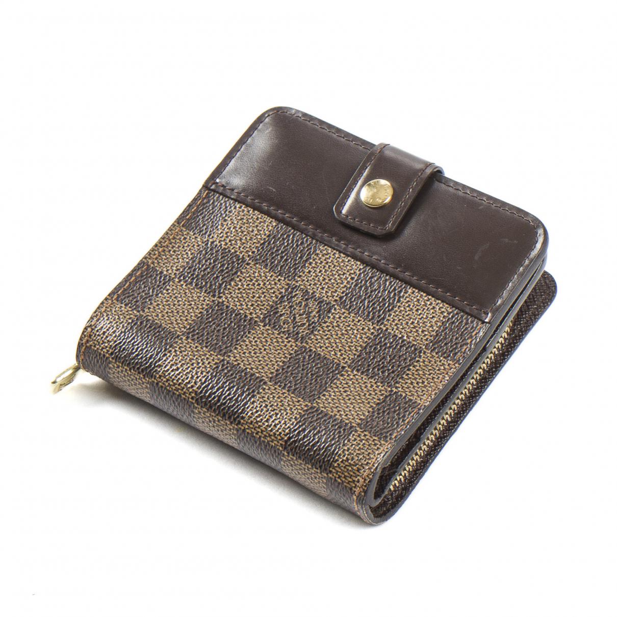 Louis Vuitton - Portefeuille Zippy pour femme en cuir - marron