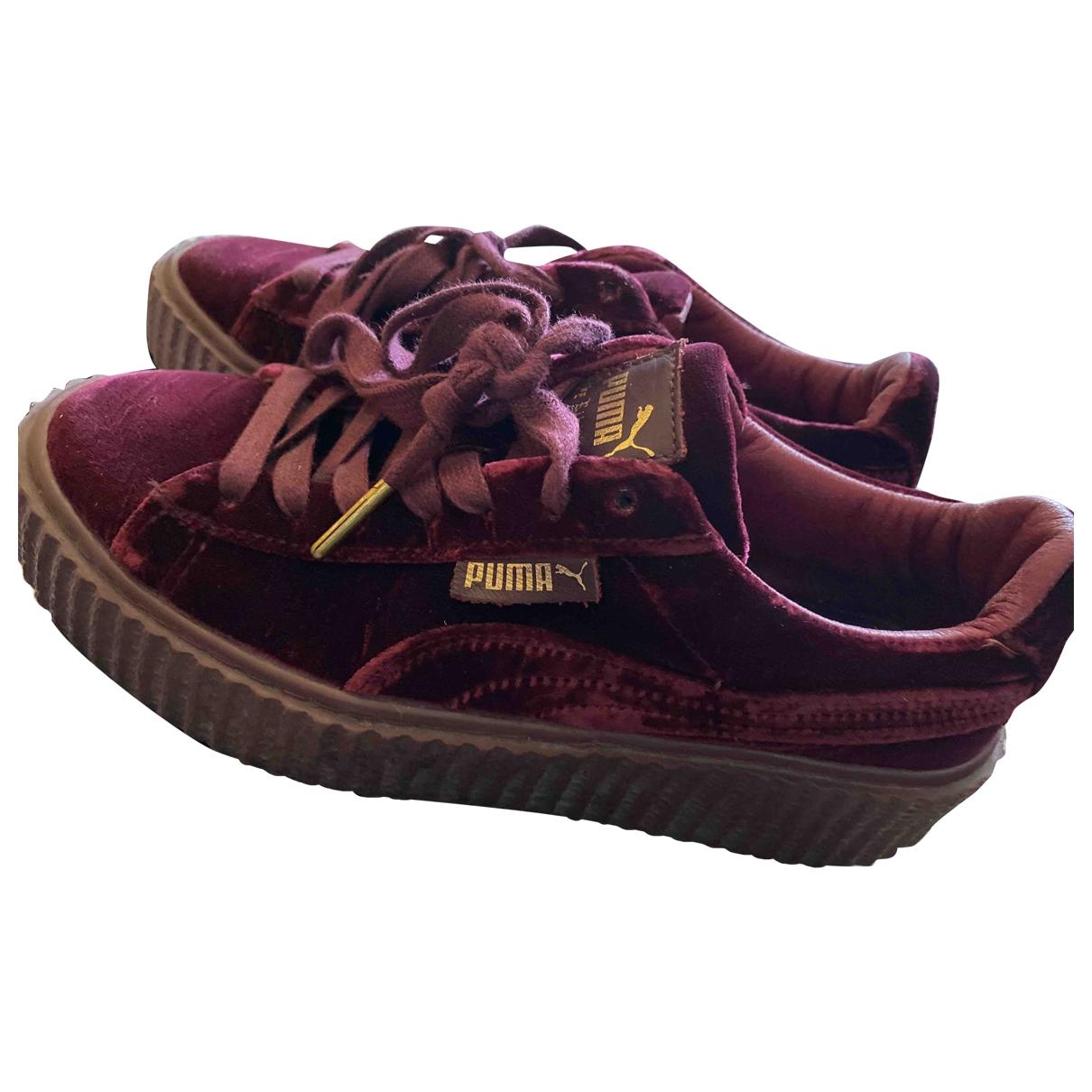 Rihanna X Puma - Baskets   pour femme en velours - violet