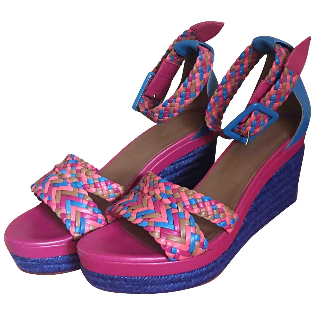 Hermes - Sandales   pour femme en cuir - multicolore