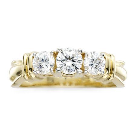 1 CT. T.W. Diamond 14K Yellow Gold 3-Stone Ring, 9 , Yellow