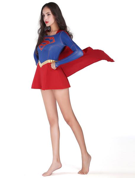 Milanoo DC Comics Supergirl Halloween Cosplay Costume Halloween
