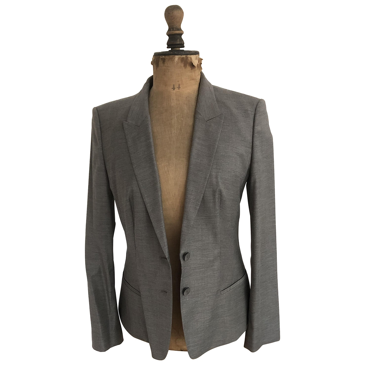 Boss - Veste   pour femme en laine - gris