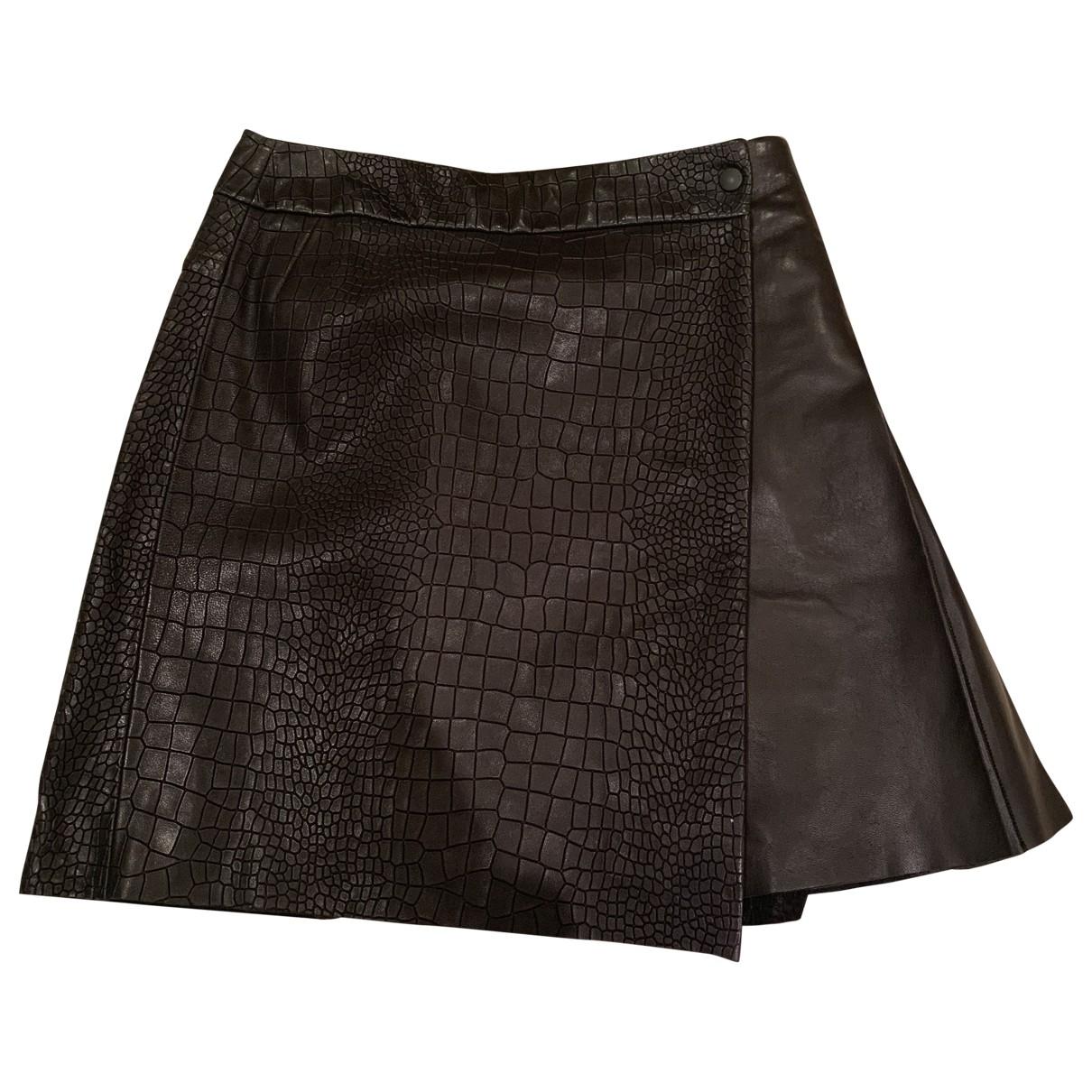 Rag & Bone \N Black Leather skirt for Women 2 US