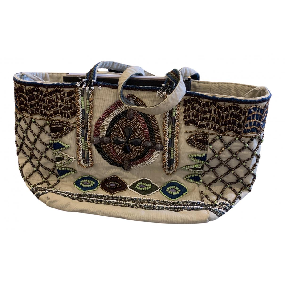 Etro \N Ecru Cloth handbag for Women \N
