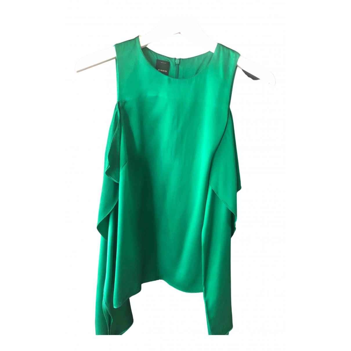 Pinko - Top   pour femme en soie - vert