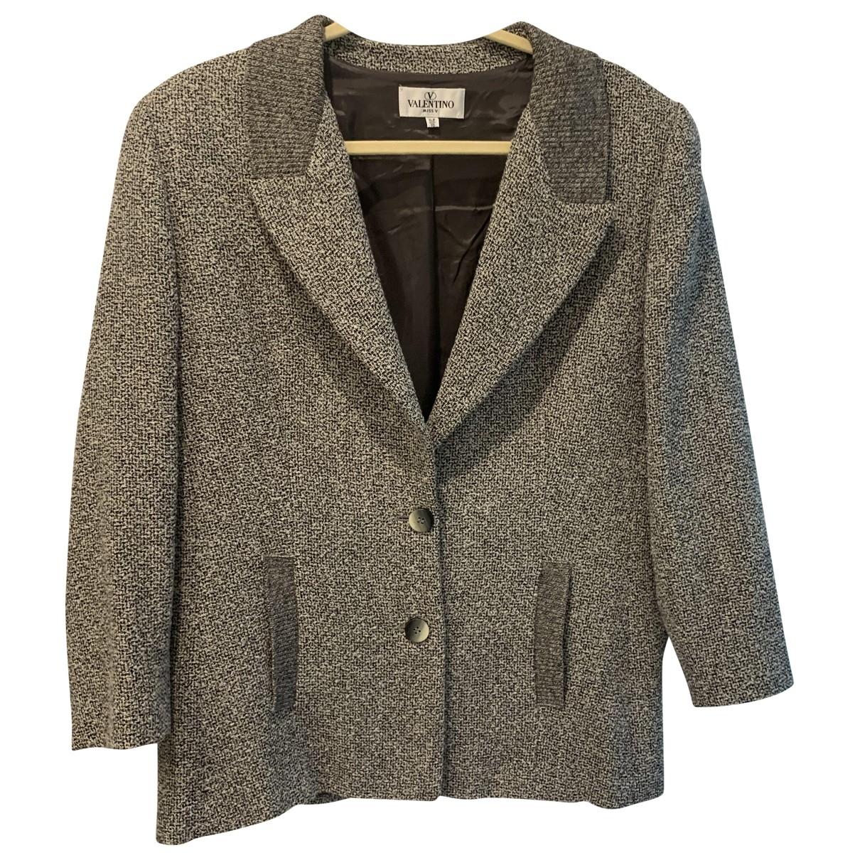 Valentino Garavani - Veste   pour femme en laine - gris
