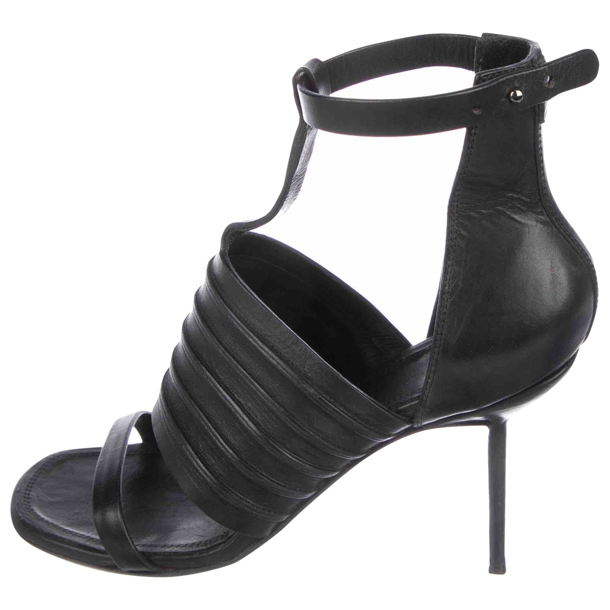Rick Owens \N Black Leather Sandals for Women 41 EU