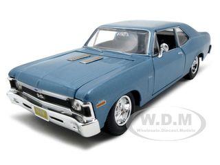 1970 Chevrolet Nova SS Coupe Blue 1/24 Diecast Model Car by Maisto