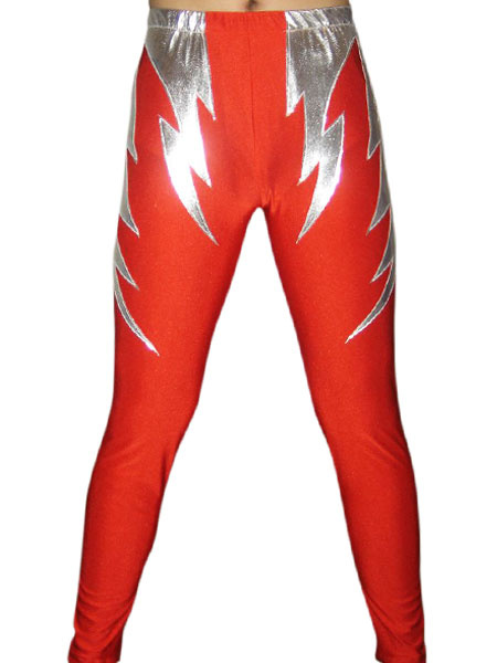 Milanoo Disfraz Halloween Pantalones rojos de elastano de marca LYCRA  Halloween