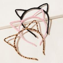 3pcs Cat Ear Decor Hair Hoop
