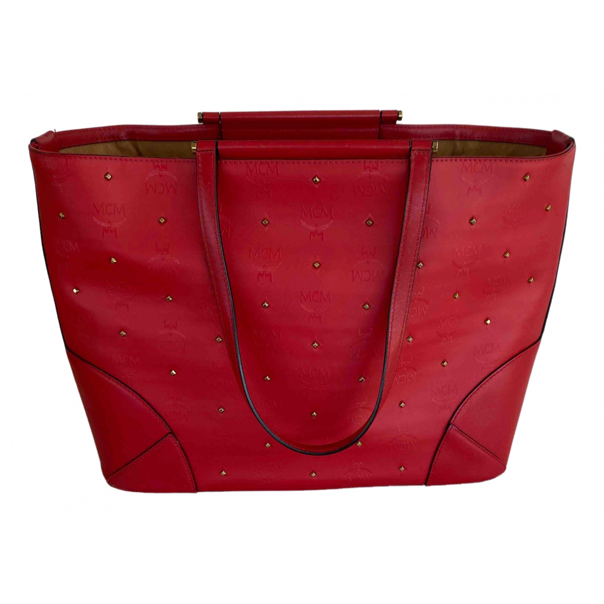Mcm Anya Red Leather handbag for Women \N