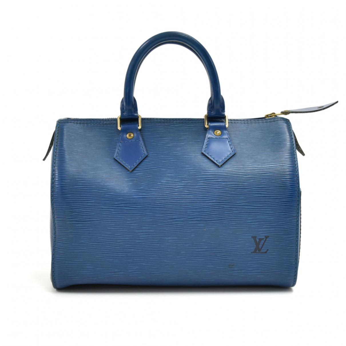 Louis Vuitton Speedy Blue Leather handbag for Women N