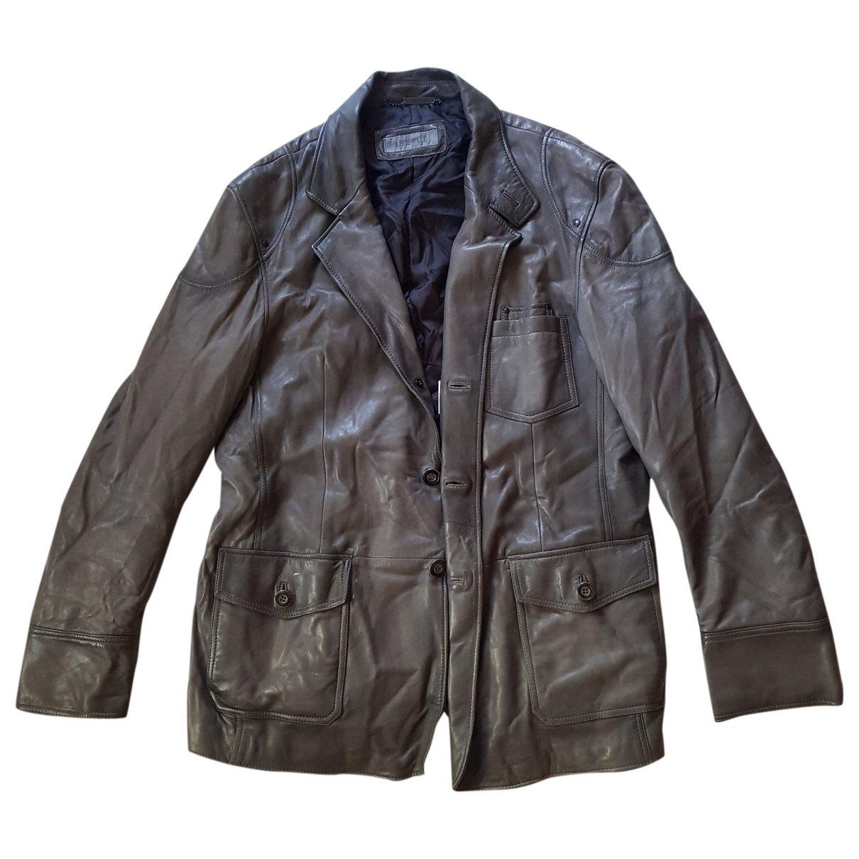 Karl Lagerfeld \N Grey Leather jacket  for Men 48 FR