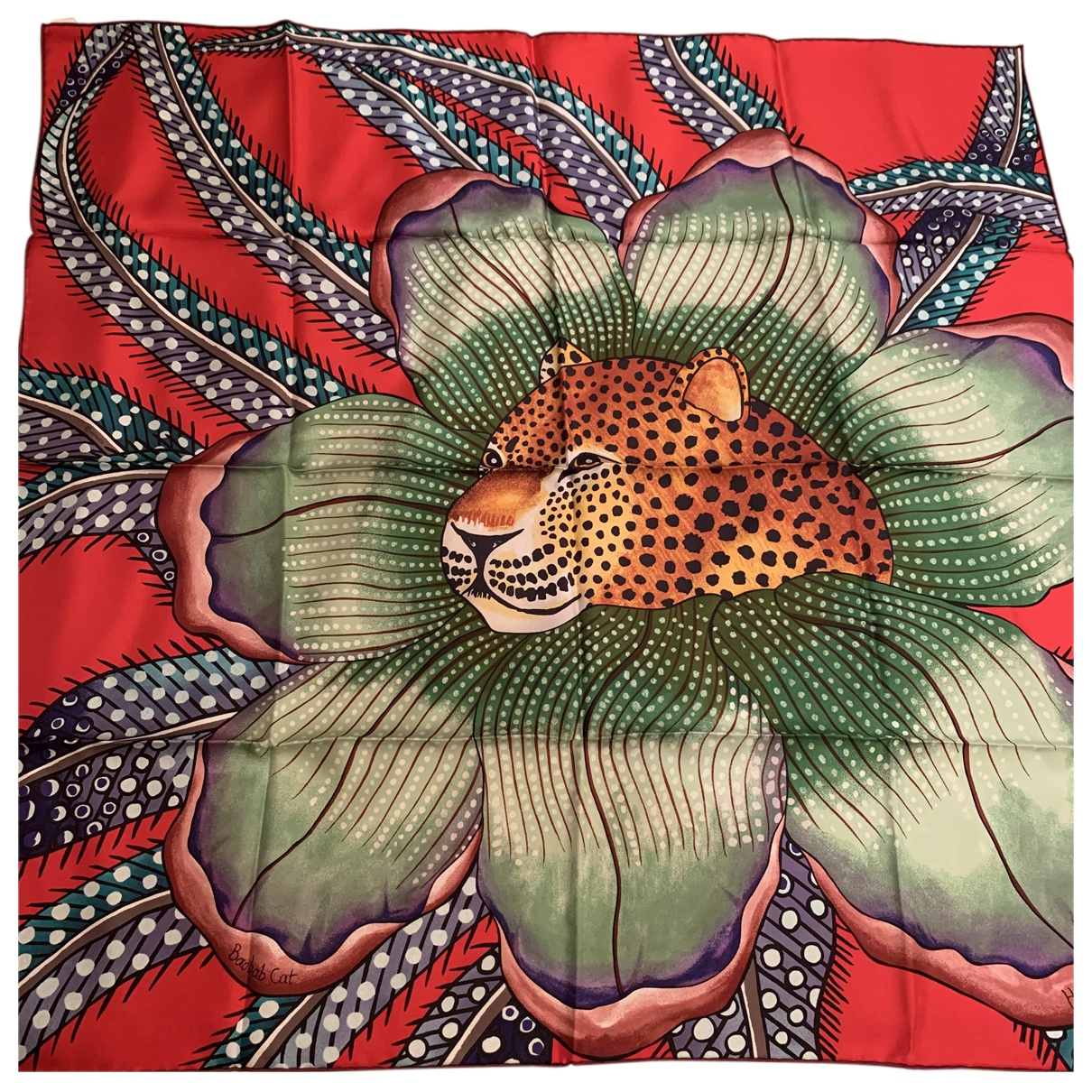 Hermès Carré 90 Red Silk Silk handkerchief for Women N
