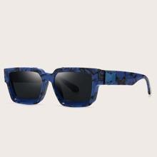 Sonnenbrille mit quadratischem Rahmen aus Acryl