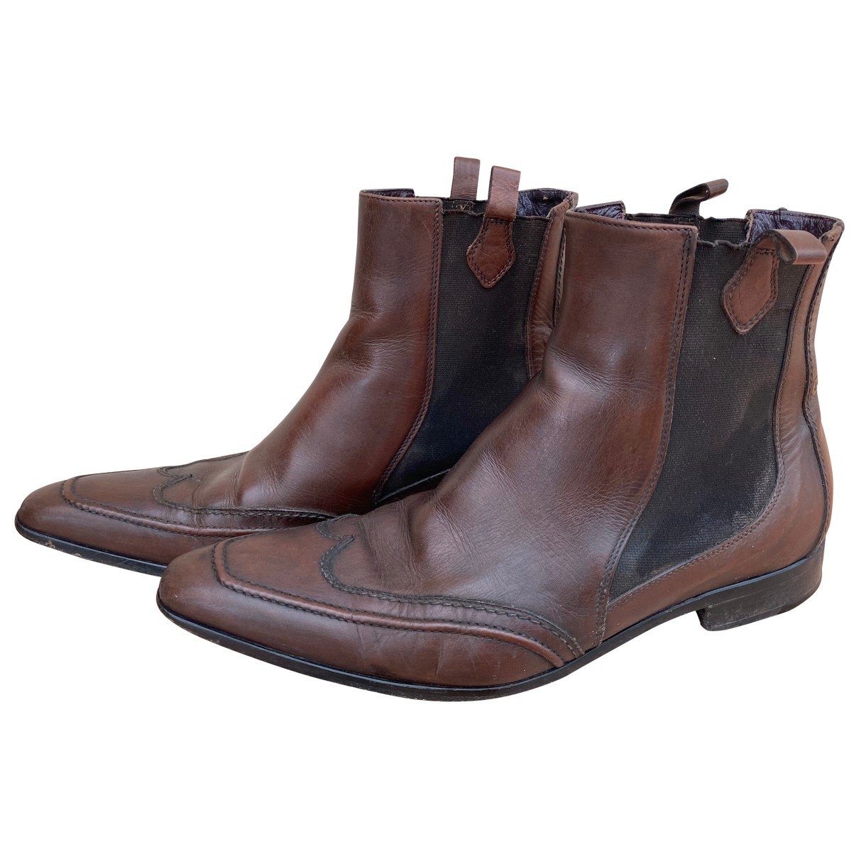 Dolce & Gabbana \N Brown Leather Boots for Men 43 EU