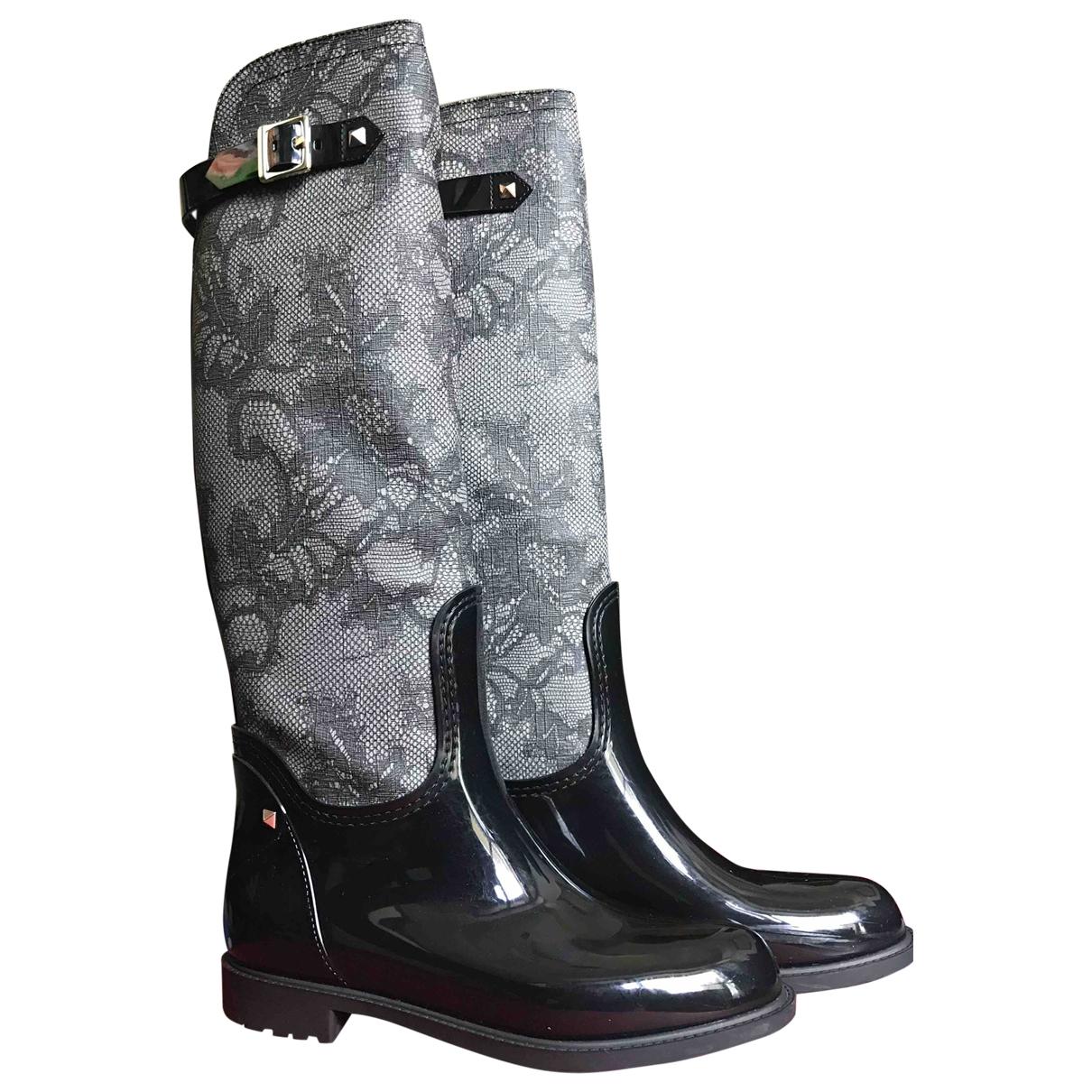 Valentino Garavani \N Black Boots for Women 37 EU
