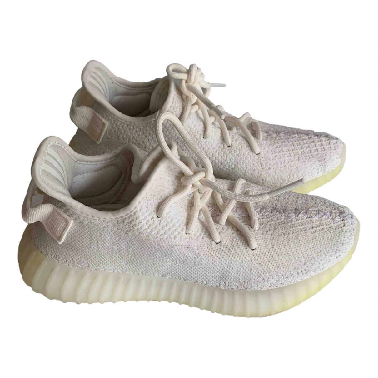 Yeezy X Adidas - Baskets Boost 350 V2 pour femme en toile - blanc