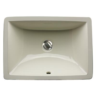 16 Inch X 11 InchUndermount Ceramic Sink in Bisque