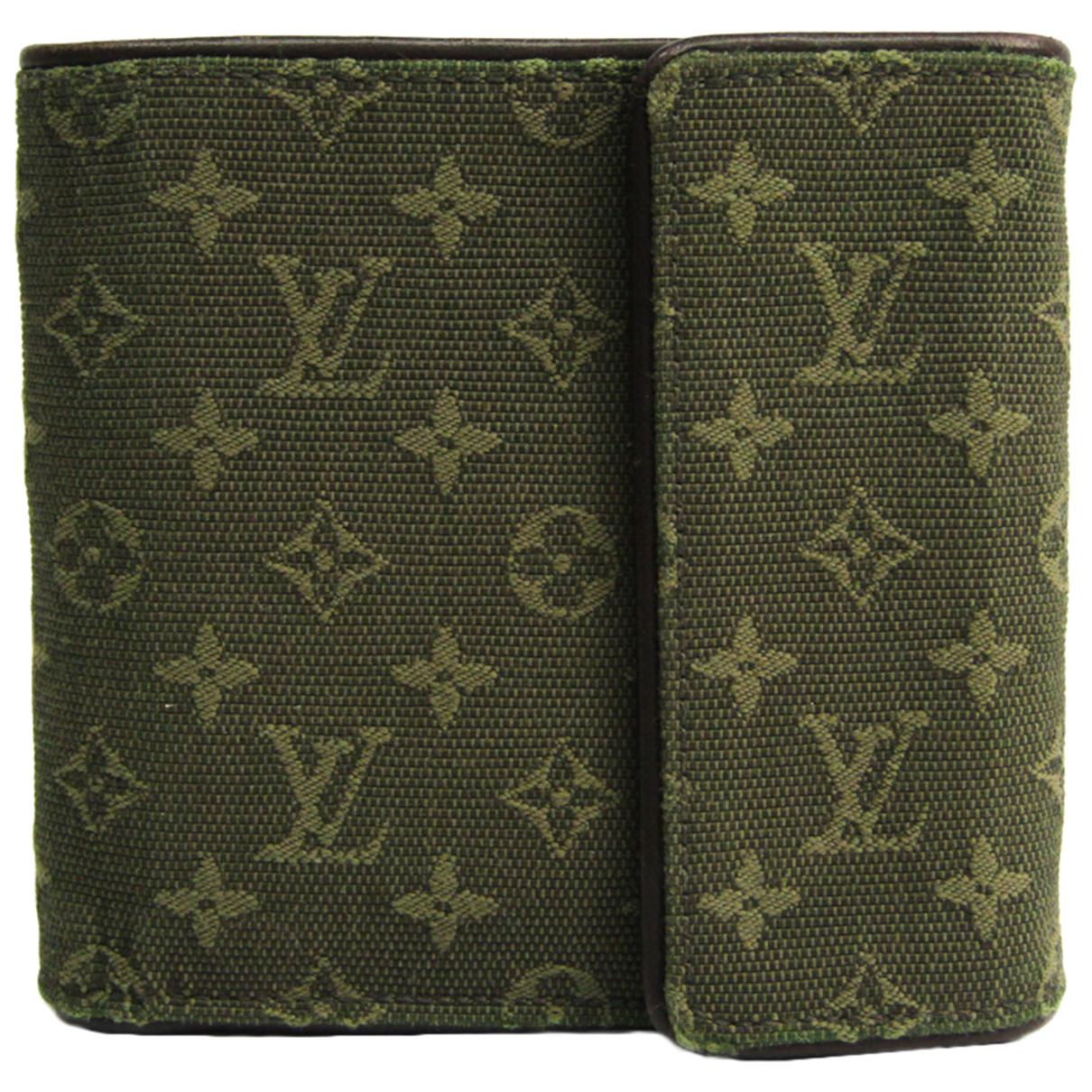 Louis Vuitton N Khaki Cloth wallet for Women N