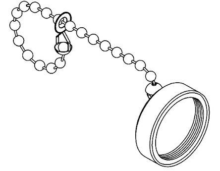Brad , 130201 Female Dust Cap, Shell Size 16 IP67 Rated, with Anodised Aluminium Finish, Black