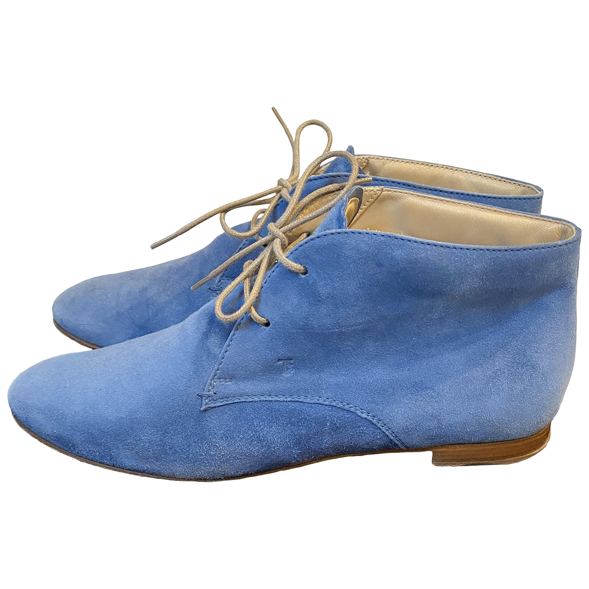 Tod's \N Blue Suede Lace ups for Women 40 EU