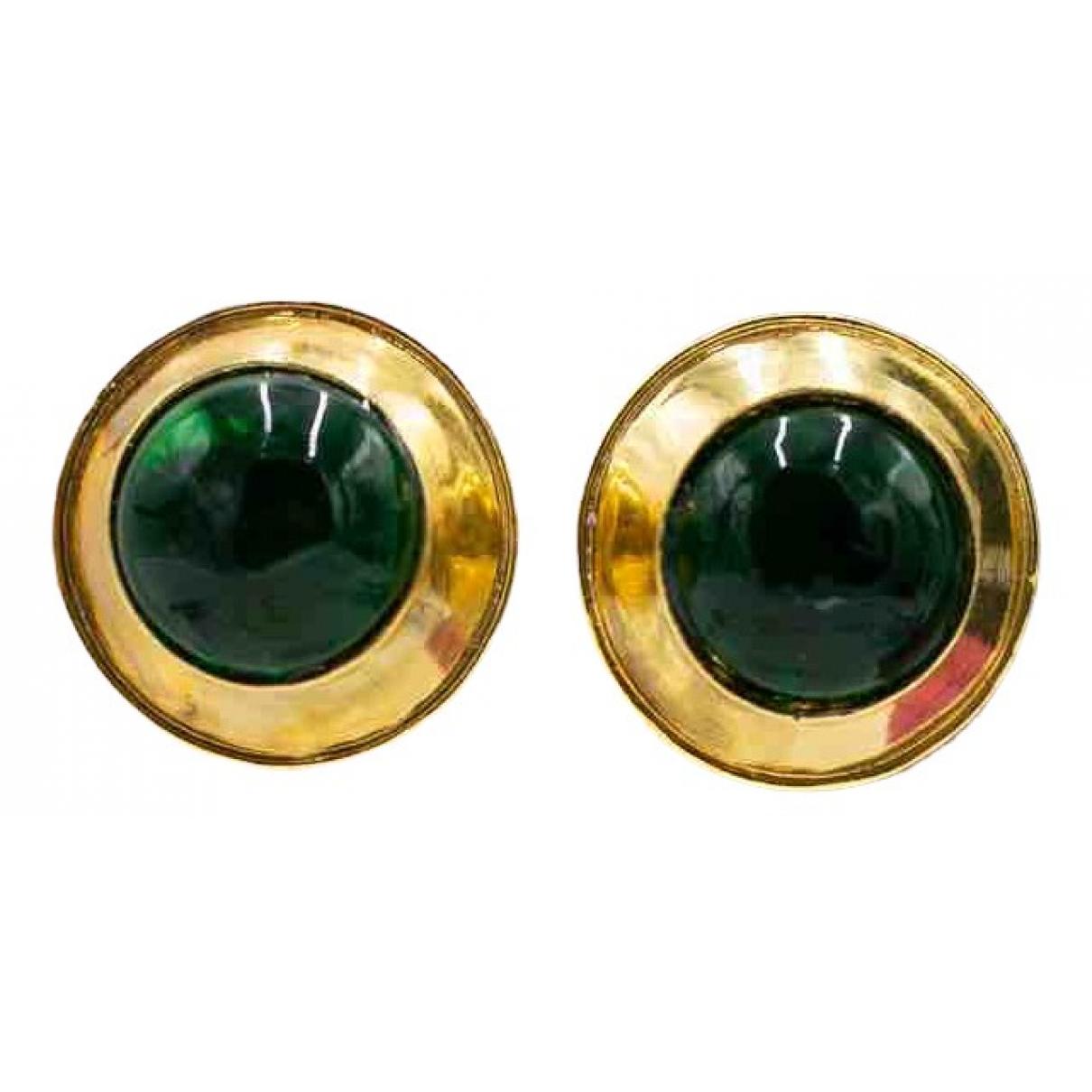 Chanel Baroque Green Metal Earrings for Women \N