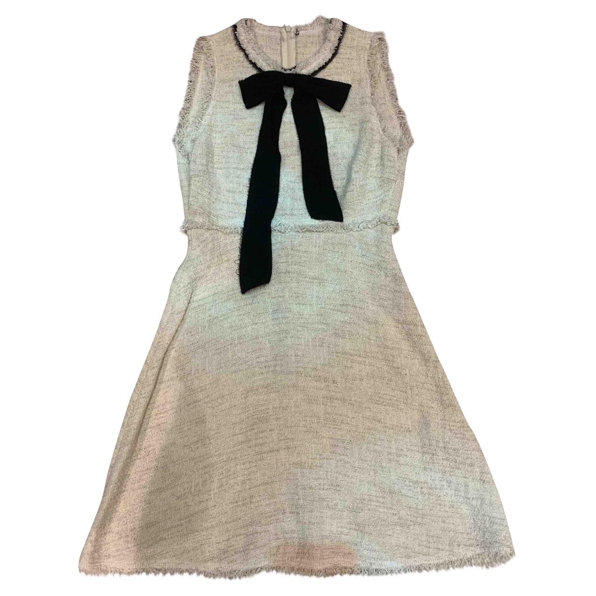 Zara \N Kleid in  Beige Baumwolle