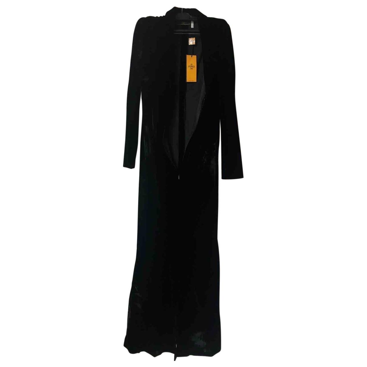 Fendi \N Kleid in  Schwarz Samt